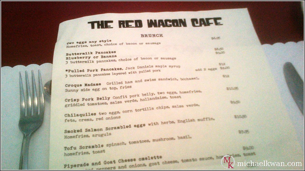 Red Wagon Cafe Menu