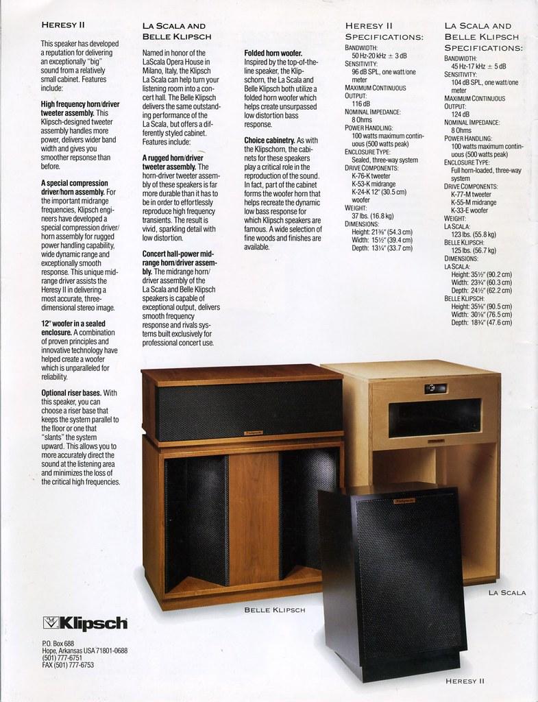 klipsch heresy ii la scala belle klipsch 1994 flickr. Black Bedroom Furniture Sets. Home Design Ideas
