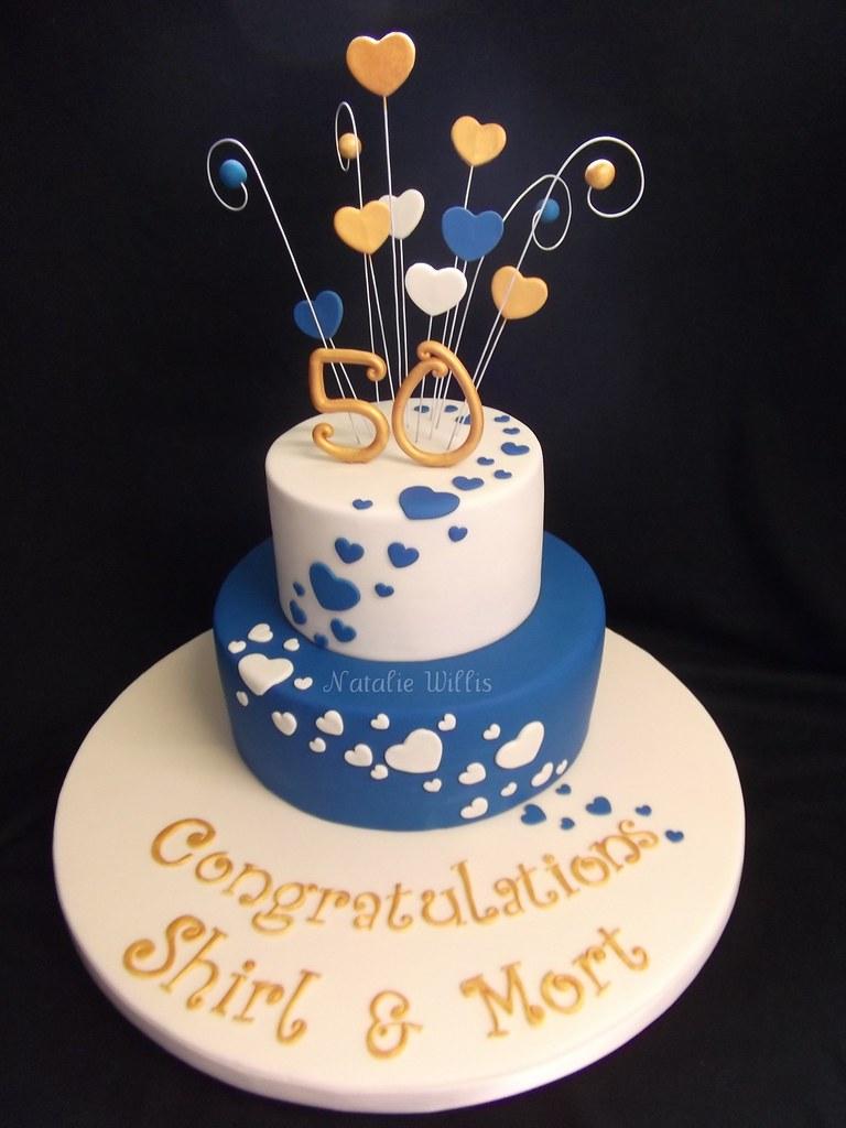 Shirl Amp Mort S 50th Wedding Anniversary Cake Golden