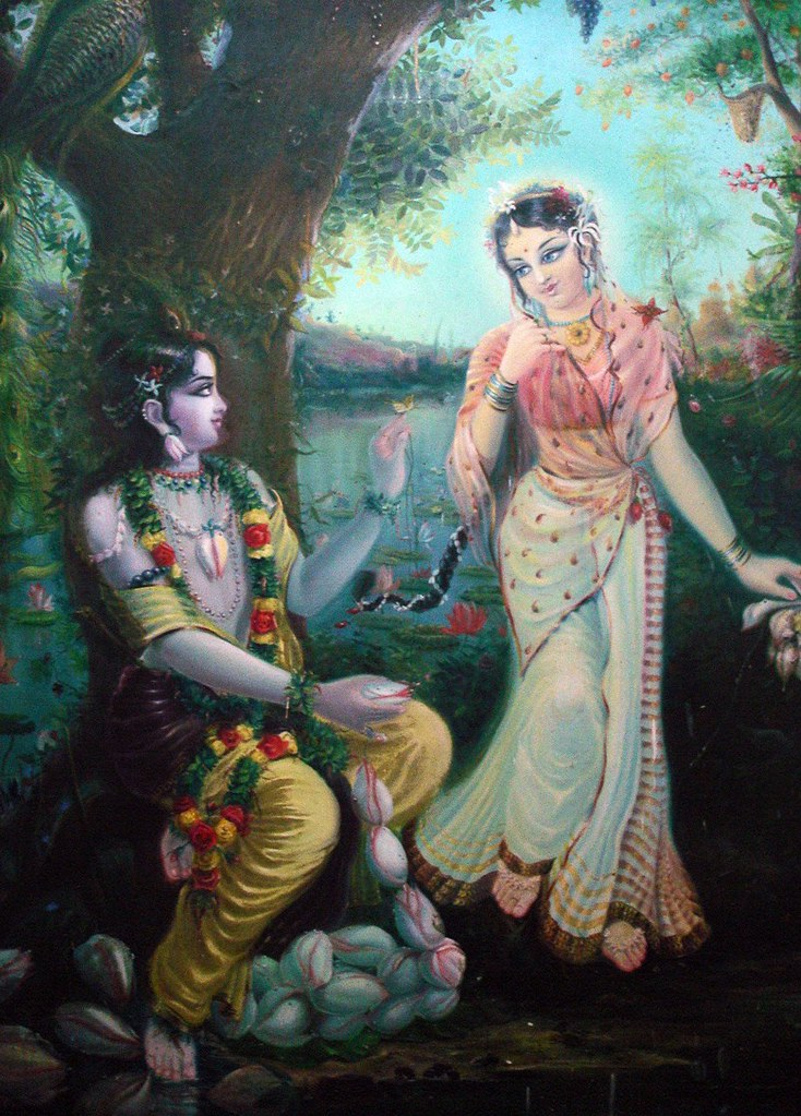 Radha Krishna Painting at ISKCON Guesthouse | The Green ...