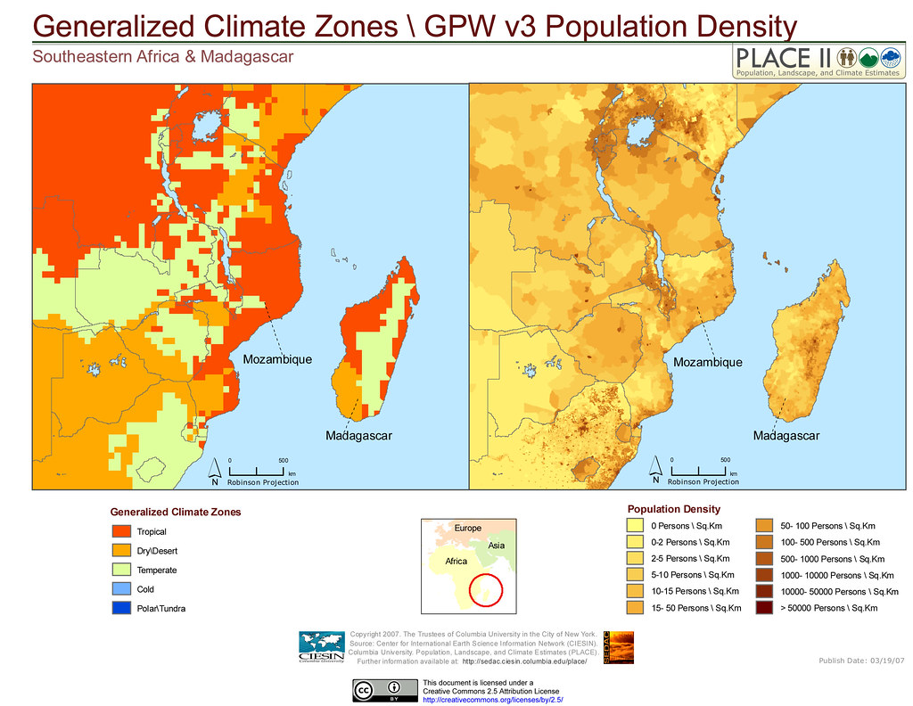 Southeastern Africa & Madagascar: Detailed Climate ZonesG ...