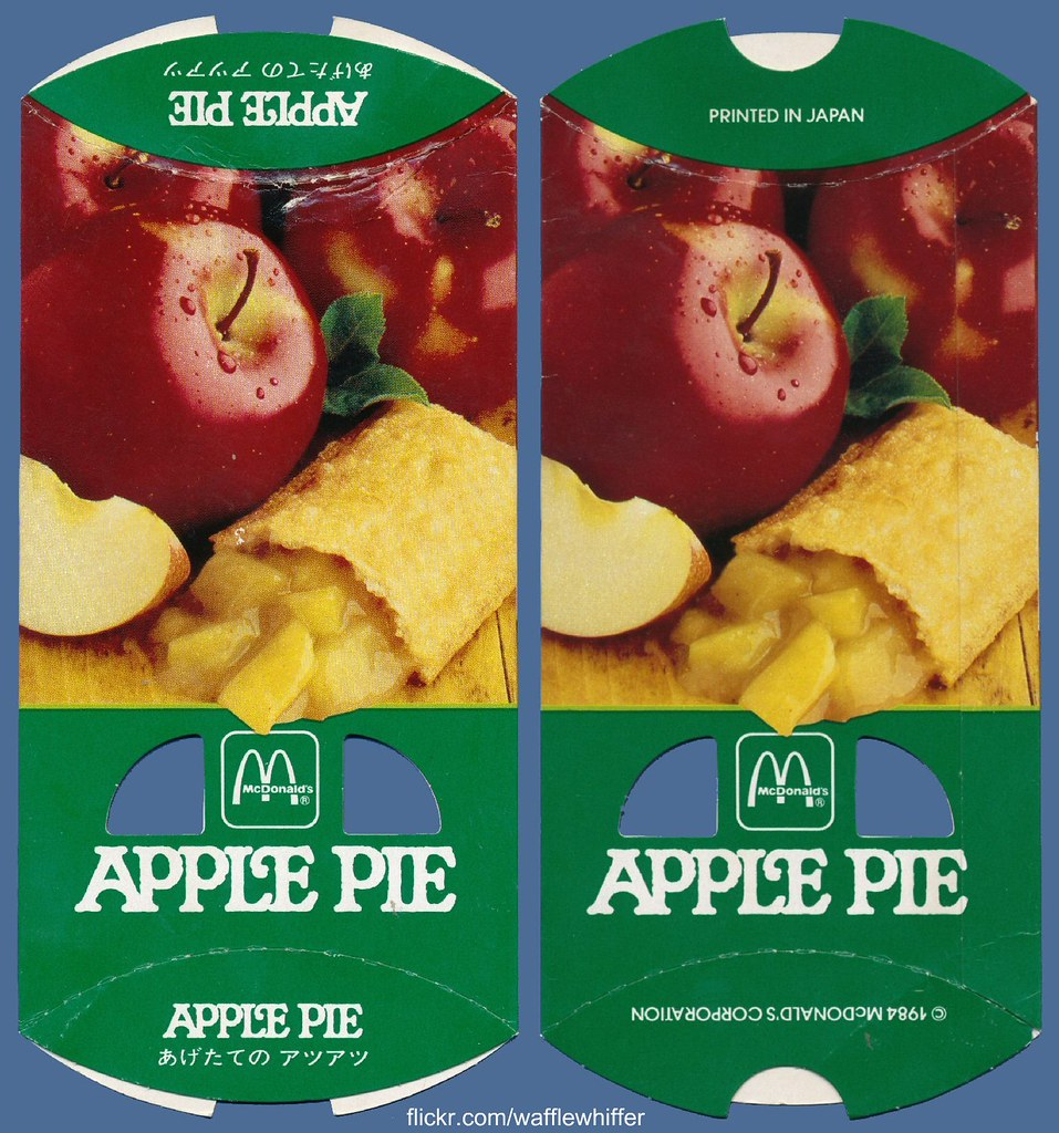 McDonald's Apple Pie - 1984 | Here's a vintage apple pie ...