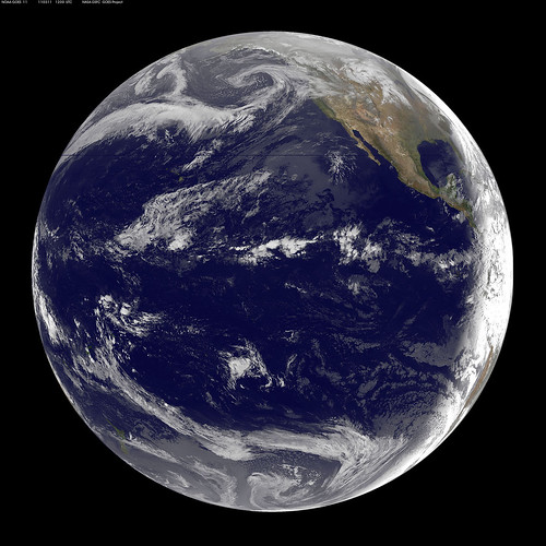 GOES-11 Satellite Sees Pacific Ocean Basin After Japan Quake | by NASA Goddard Photo and Video