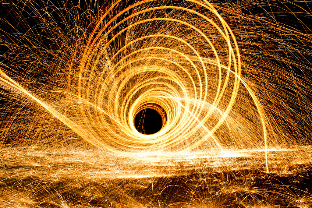 Fire Vortex | Steel wool is one of the coolest things in ...