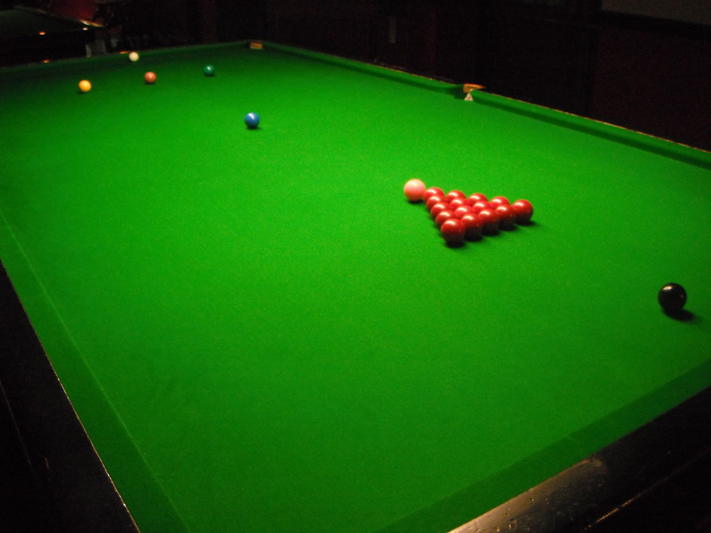 Snooker table ready to play ben sutherland flickr - Billiard table vs pool table ...