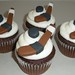 Hockey Stick and Puck Cupcakes