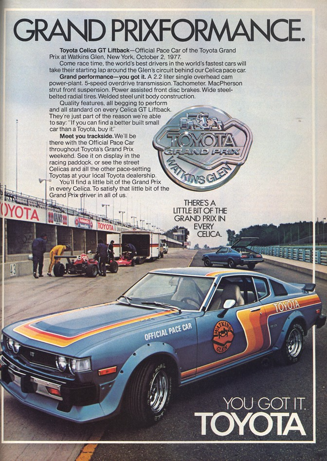 1977 Toyota Celica Gt Fastback Pace Car Ad Usa Covers