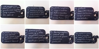 Eight weeks of whale chalkboard meal planning! | by susanstars
