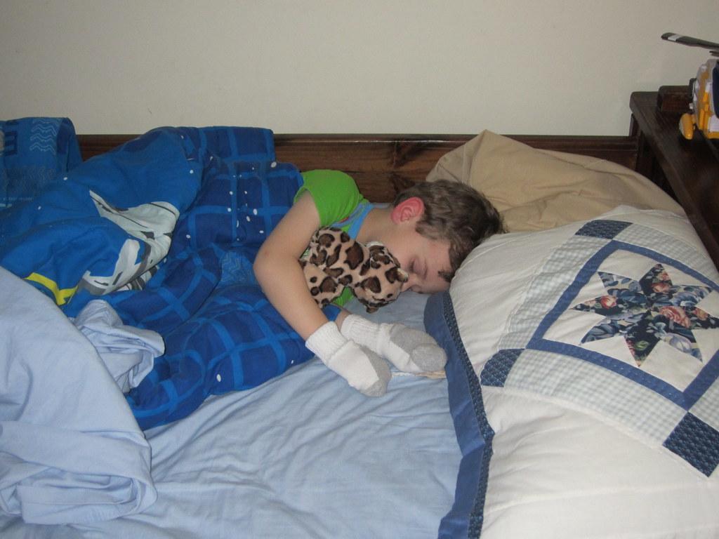 cameron sleeps cammy sleeping with a jaguar and socks on flickr. Black Bedroom Furniture Sets. Home Design Ideas