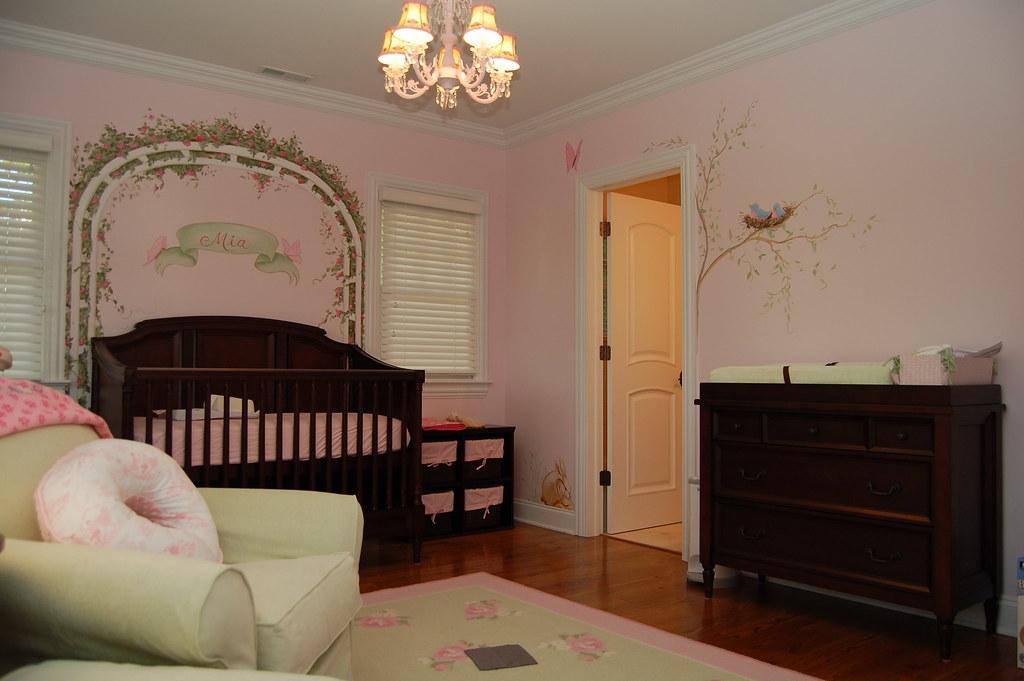 My Baby Girl S Nursery: Baby Girl's Rose Trellis Nursery Mural