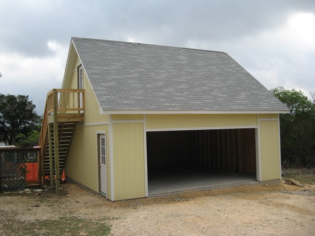 Premier pro ranch garage 22x22 garage includes a second for Shed roof garage