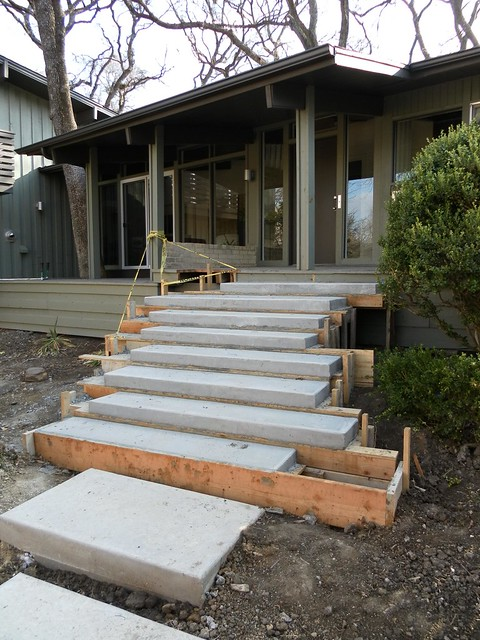 Floating concrete steps flickr photo sharing for Steps to building a new home