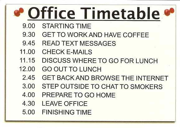 No.21 Not Available now!!! | Office Timetable ...