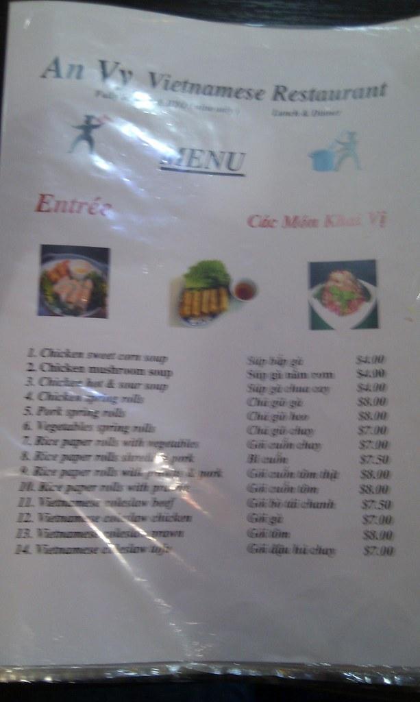 Vic Restaurant Menu