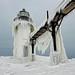 """Winters Art"" St. Joseph Northpier Lighthouse, St. Joseph, Michigan"