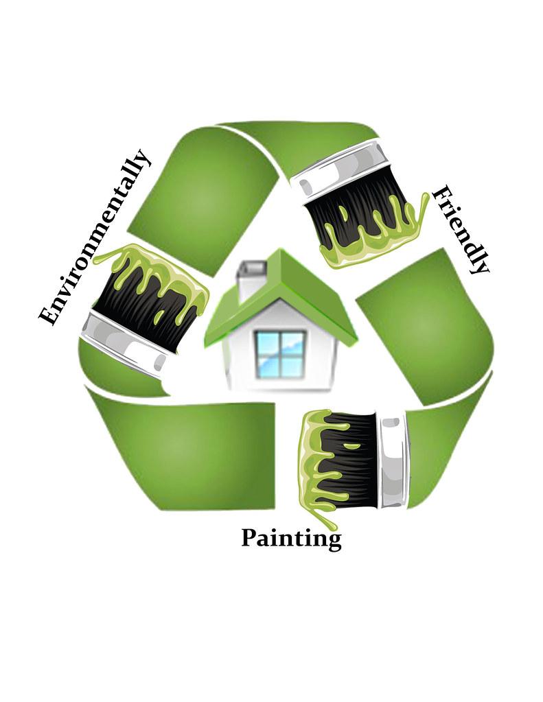Patriotic painting eco friendly logo patriotic painting for Eco friendly exterior paint