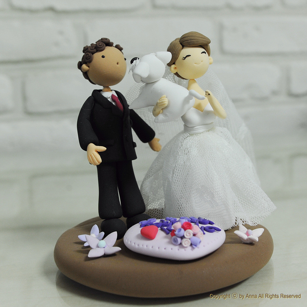 wedding cake topper with dog with their pet wedding cake topper flickr 8811