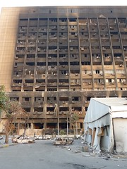 Burnt-out NDP headquarters