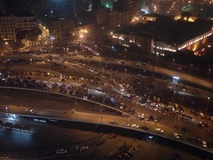 Midan Tahrir at night