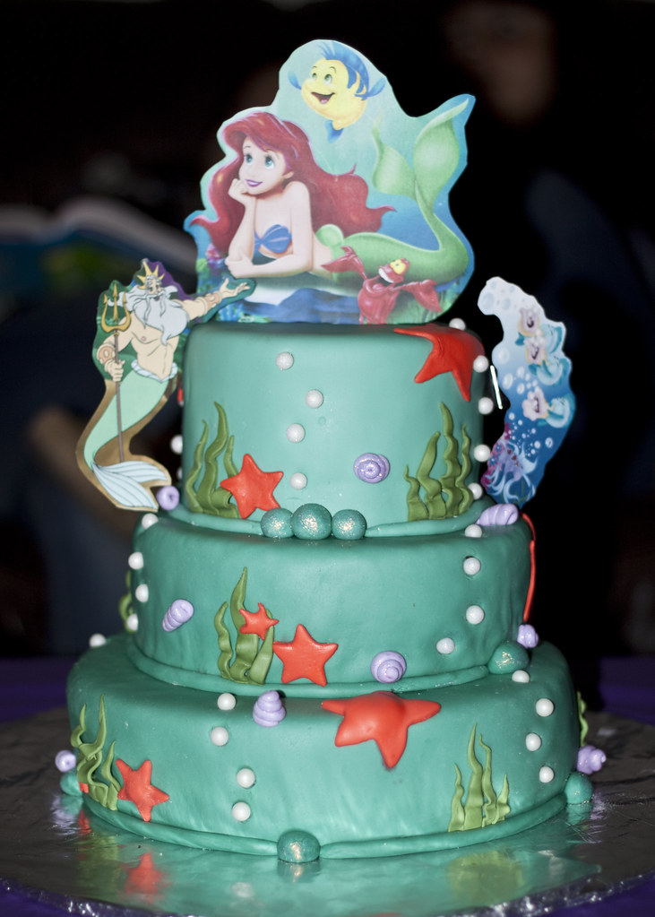 Little Mermaid Cake  I made this cake for my birthday with ...
