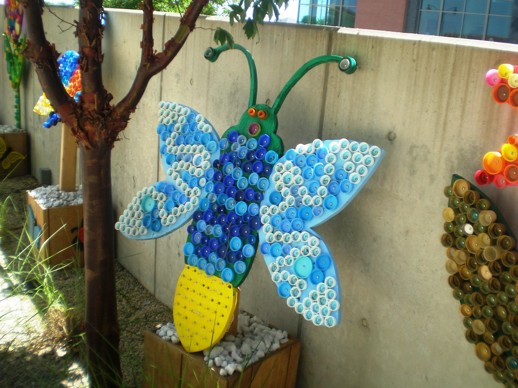 Reuse Recover Repurpose Bottle Cap Bugs and