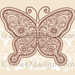 Henna Doodles Butterfly Tattoo Vector Illustration by blue67design