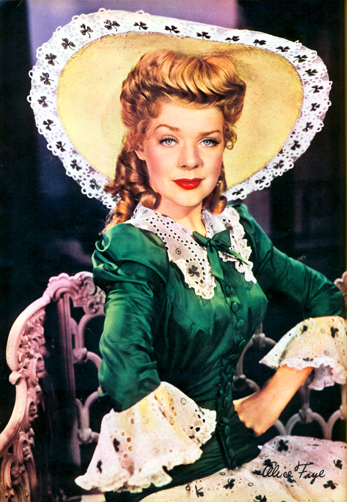Alice Faye Color Page From The May 1943 Modern Screen
