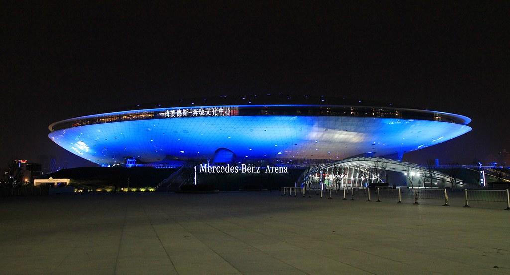 mercedes benz arena shanghai china autism speaks flickr. Black Bedroom Furniture Sets. Home Design Ideas