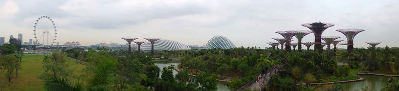濱海灣花園2012年落成,興建於填海土地上,期促進新加坡由花園城市進化為「花園中的城市」。攝影:gibbyli(CC BY-NC-ND 2.0)。