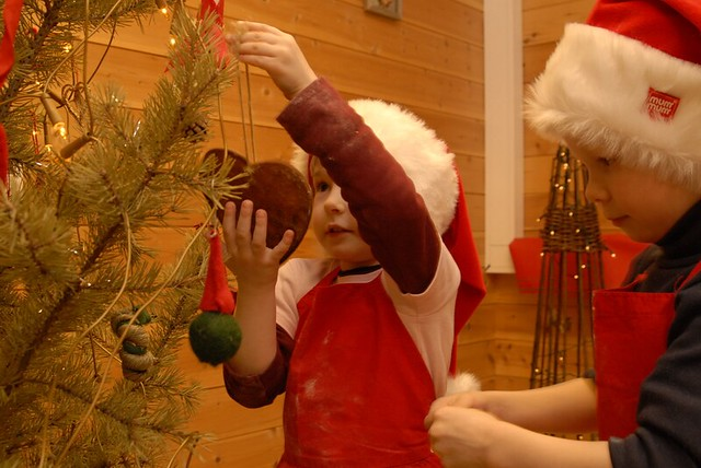 Escena navideña en Noruega