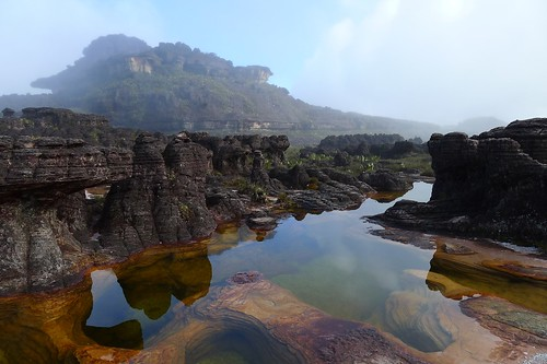 """Jacuzzis"". Summit of Roraima 
