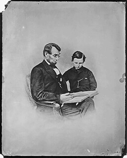 President Abraham Lincoln and Tad Lincoln | by The U.S. National Archives