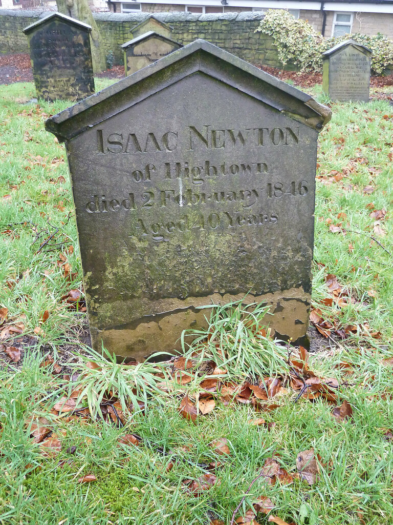 Grave Of Isaac Newton Presumably Not The Famous One He