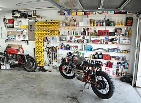 Spray Painting Car In Garage
