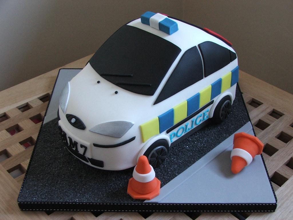 Police Car Shaped Cake Pan