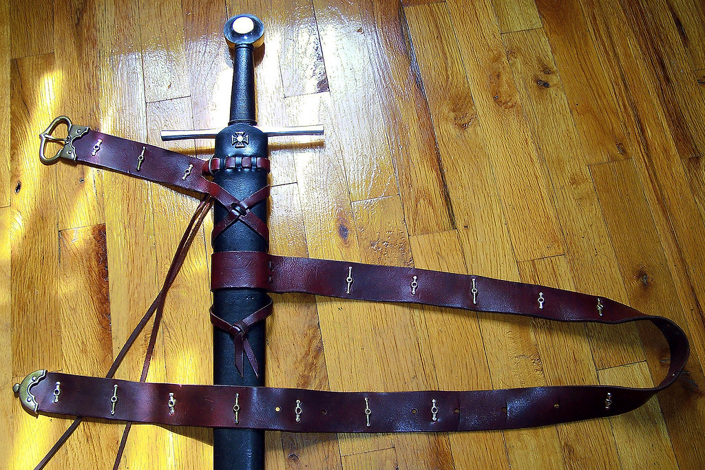 medieval sword belt with stiffeners weekend project i