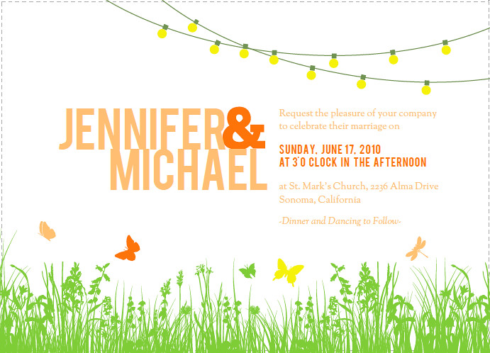 Wedding Party Invites with nice invitations design