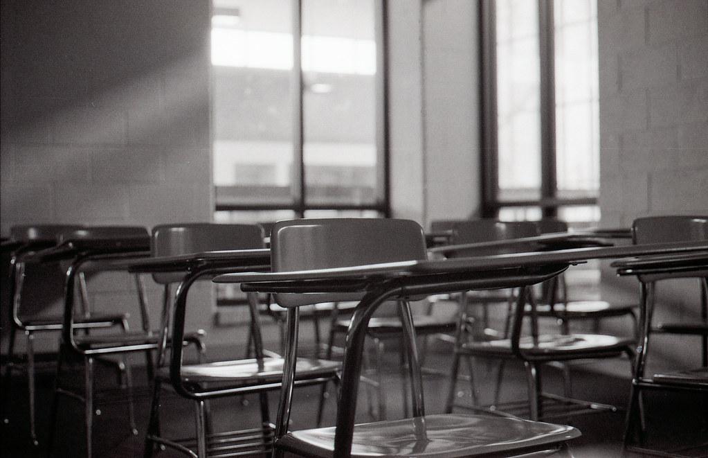 Empty classroom   At the old Wayne County Community ...