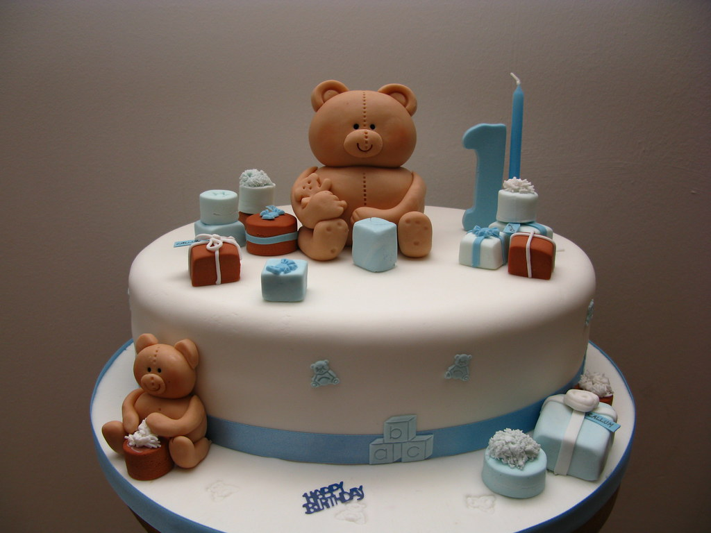 Teddy Bear Presents Birthday Cake By Susan ONeill Flickr - Bear birthday cake
