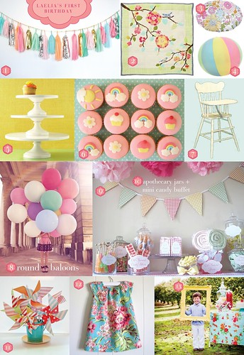 First Birthday Inspiration Board | by Visual Vocabulary