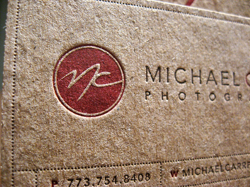 Kraft Letterpress Business Card - Michael Carr | by dolcepress