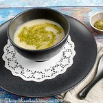 Creamy Cauliflower Soup with Brazil Nut Pesto