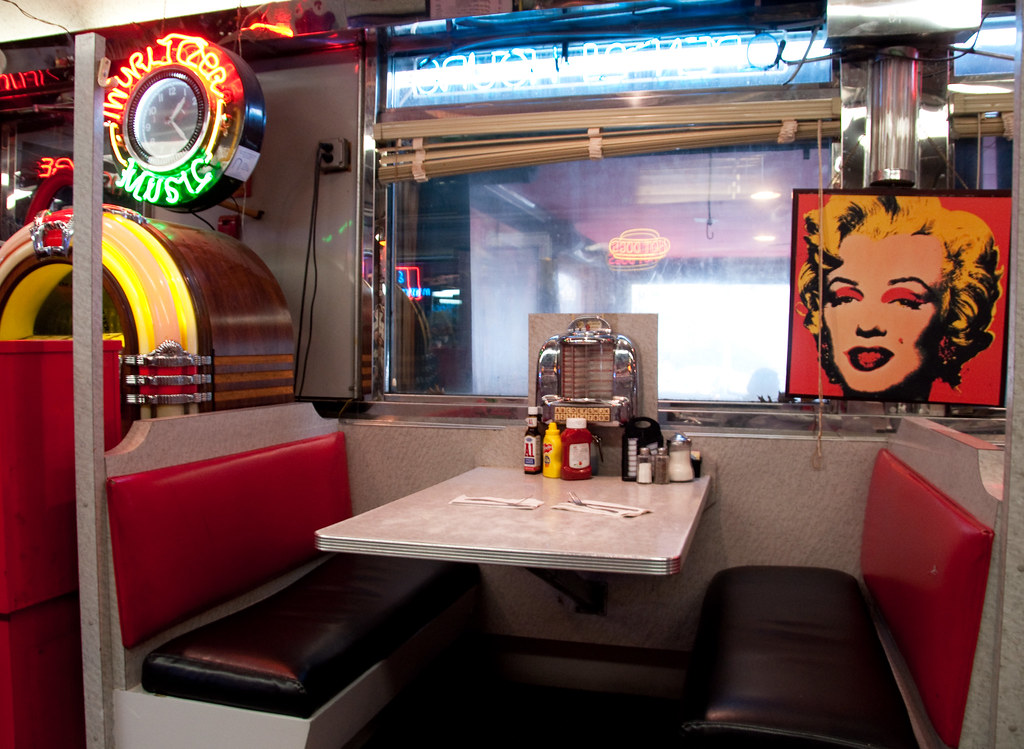 American City Diner Booth | A booth inside the American ...