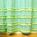 ruffled shower curtain (close-up)