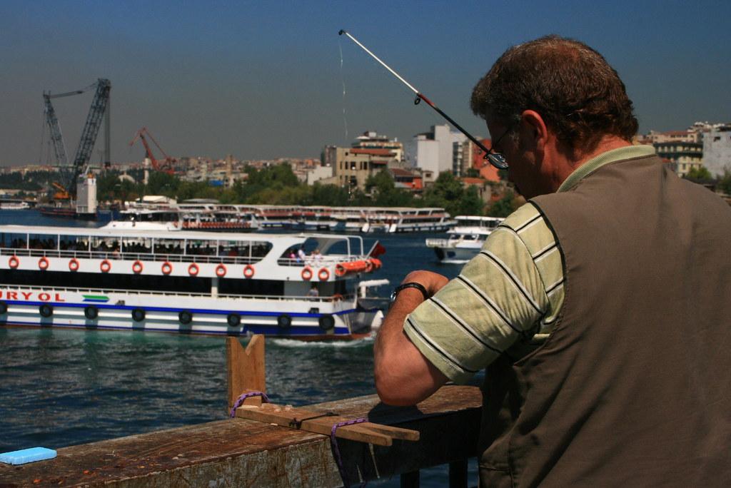 Fishing at the galata bridge istanbul turkey myrna for Sierra fish in english