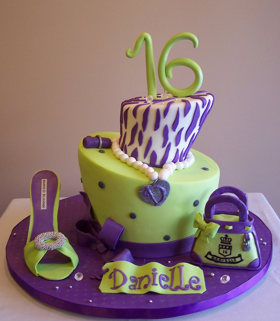 Topsy Turvy Sweet Sixteen Cake