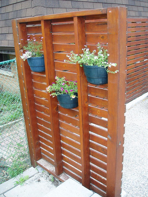 Privacy trellis flickr photo sharing for Deck trellis