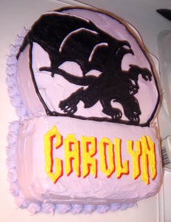 20110305 2207 - Carolyn's 35th birthday party - Gargoyles cake! - IMG_2894 | by Rev. Xanatos Satanicos Bombasticos (ClintJCL)