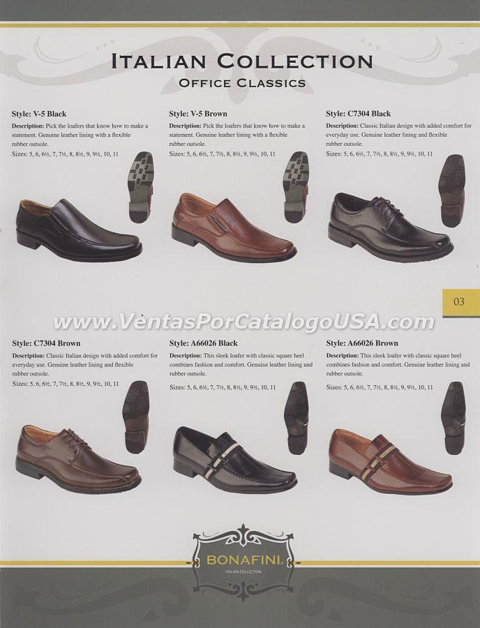 Ventas por catalogo bonafini botas zapatos calzado para ho for Zapatos por catalogo