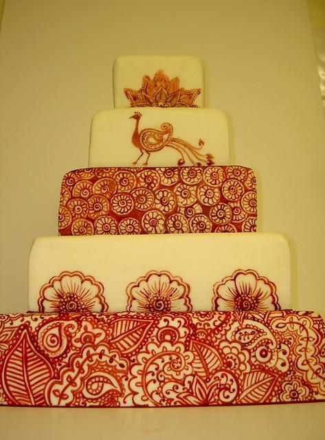 Mehndi Cake Uk : Henna tattoo inspired wedding cake cakes